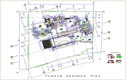 Architectural view of house second floor plan dwg file