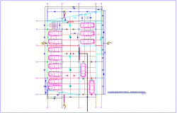 Architectural view of parking plan of bank dwg file