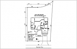 Architectural view of site plan dwg file