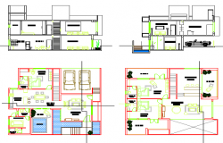 Architectural villa design drawing