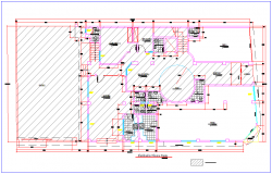 Architecture  plan layout of hotel