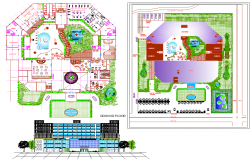 Architecture 5 Star Hotel project dwg file