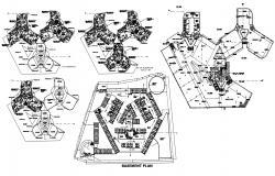Architecture Apartment Building Plan