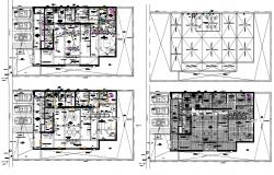 Architecture Bank Furniture Floor Layout Plan AutoCAD File