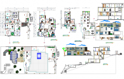 Architecture Beach House plan dwg file