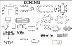 Architecture Design of Furniture Blocks dwg file