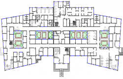 Architecture Design of General Hospital section details dwg file