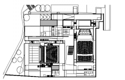 Architecture Design of Multiplex Theater dwg file