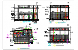 Architecture Design of Public Toilet dwg file
