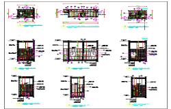 Architecture Design of Public Toilet dwg file