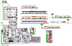 Architecture Hospital project dwg file