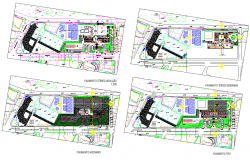 Architecture Hotel Layout plan detail dwg file