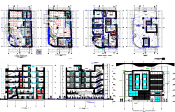 Architecture Hotel project dwg file
