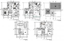 Architecture House Project DWG File