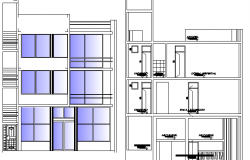 Architecture Housing with Stores Design and Elevation dwg file