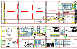 Architecture Layout of Shopping Mall Design, Structure Design dwg file