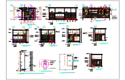 Architecture Plan of  Female Toilet of Corporate Office dwg file
