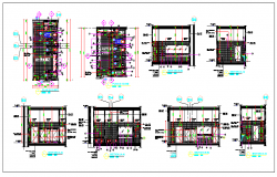 Architecture Plan of  Male Toilet of Corporate Office dwg file
