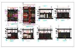 Architecture Plan of Toilet of Building dwg file