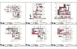 Architecture Residential Project dwg file