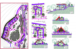 Architecture Resort Project autocad file
