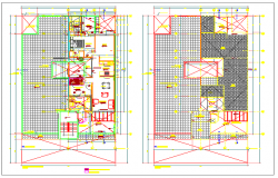 Architecture design of home design drawing