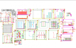Architecture design plan for shop