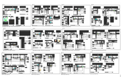Architecture floor plan view dwg file