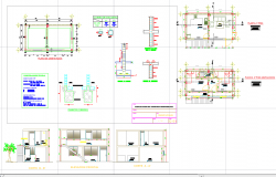 Architecture house plan autocad dwg files.