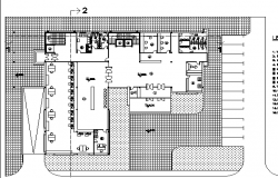 Architecture layout plan detail of administrative building dwg file