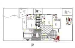 Architecture layout plan details of one family house dwg file