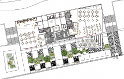 Architecture layout plan structure of shopping center dwg file