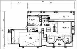 Architecture plan details of the dwg file