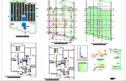 Architecture project of single family house dwg file