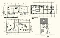 Architecture view of  home floor plan with necessary view dwg file
