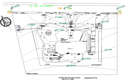 Architecture view of concession air for car dwg file