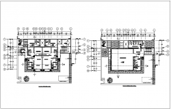 Architecture view of floor plan of house dwg file