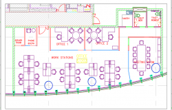 Area b's proposed furniture layout