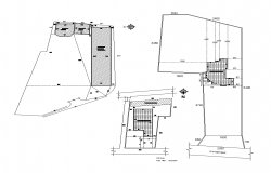 Area site plan detail 2d view layout autocad file