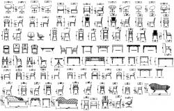 Armchair furniture autocad drawing file