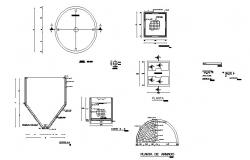 Armed concrete structure and construction details dwg file