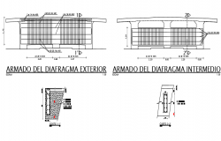 Armed diaphragm interior and exterior detail dwg file