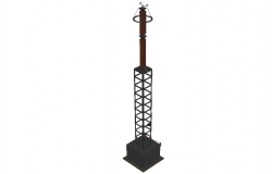 Arrester arrester 400 kv 3 D plan detail dwg file