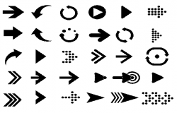 Arrows and symbols design