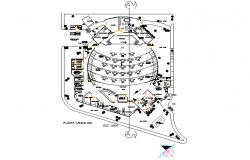 Art gallery project plan detail dwg file