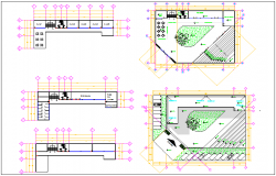 Arts school plan design view dwg file