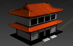 Asian house 3d model files in 3ds max