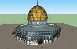 Asqa religious mosque 3d model cad drawing details skp file