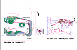 Assembly and alternate plan for office of nursery dwg file