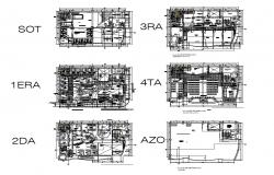 Association of savings and credits san martin building floor plan details dwg file
